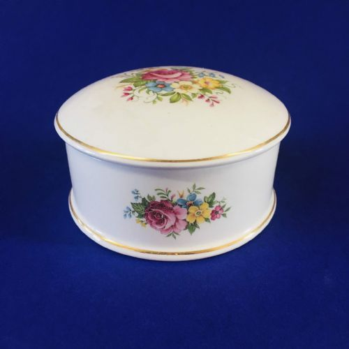 Connoisseur - Bone China - Trinket Pot - Rose Floral